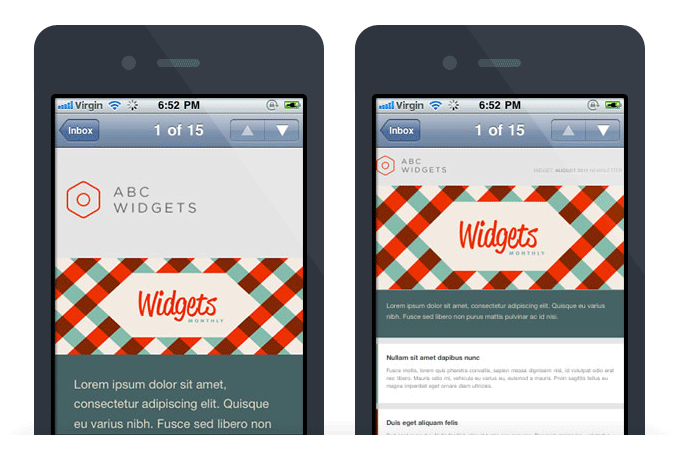 Mobile responsive emails
