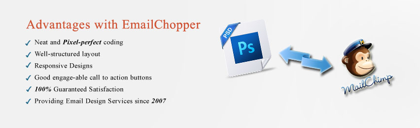 PSD To MailChimp HTML Email Template Conversion Email Chopper - Mailchimp psd template
