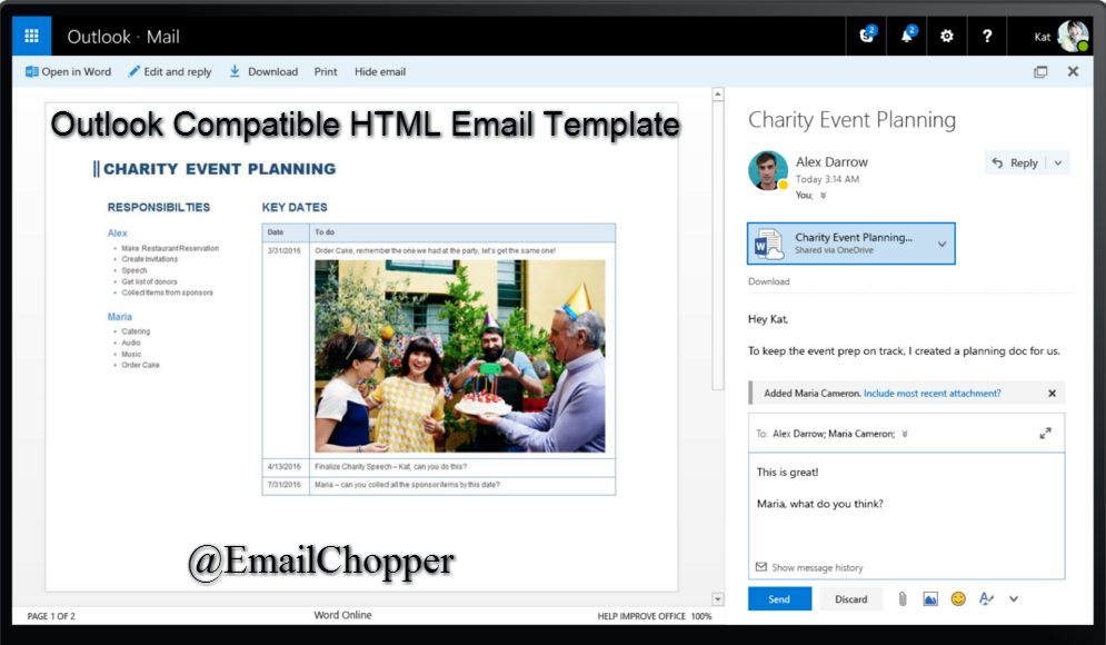 Useful Tips Tricks To Create Outlook Compatible HTML Email - Outlook html email template
